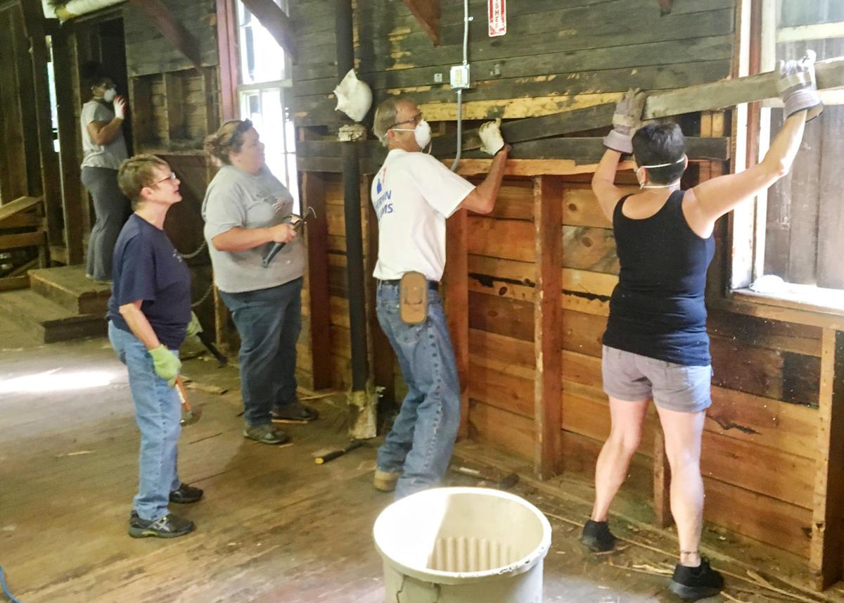 Restoration work resumes at historic Red House sawmill