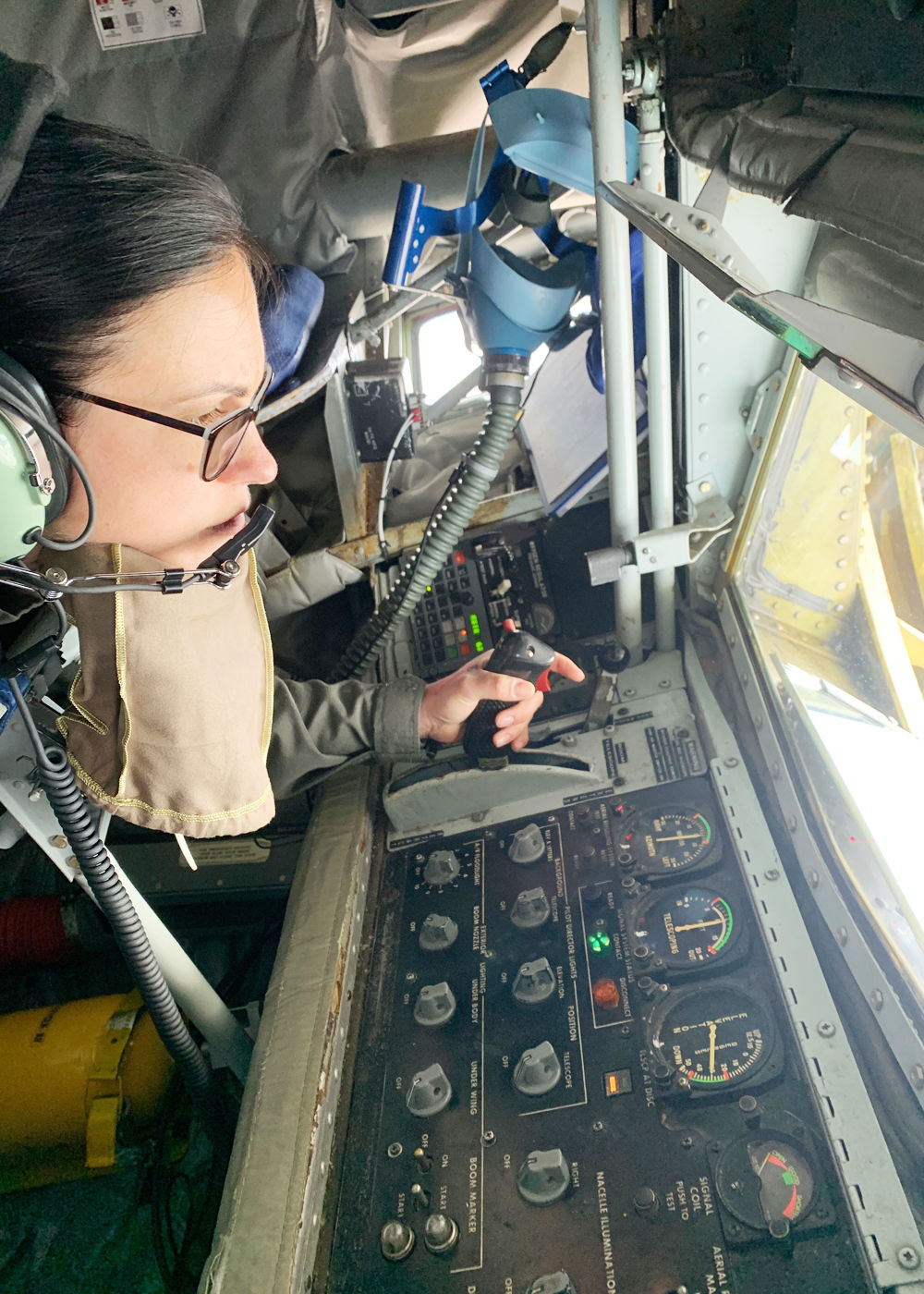 Daughter of local man fuels up Air Force planes in flight panel