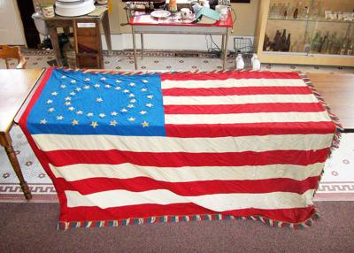 Historical museum's 41-star U.S. flag preservation nears finish