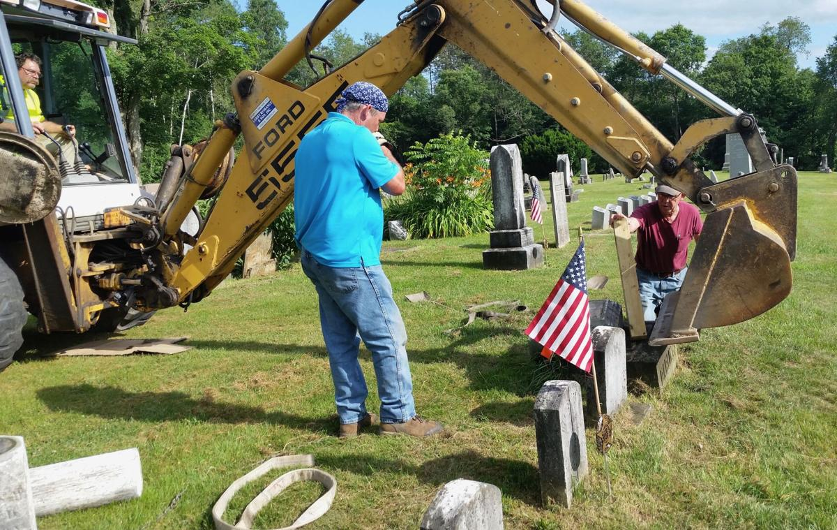 Locals work together to save Leon's Treat Cemetery backhoe