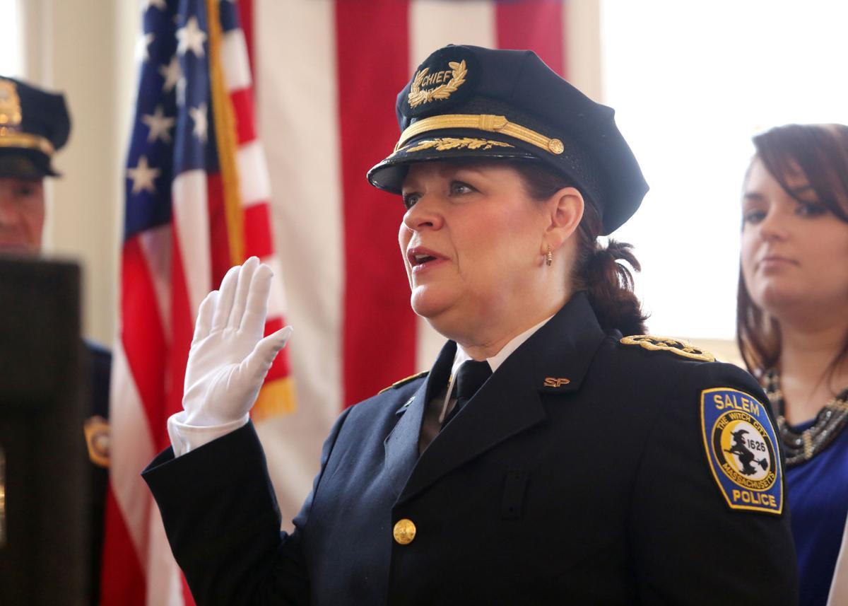 Mary Butler is sworn in