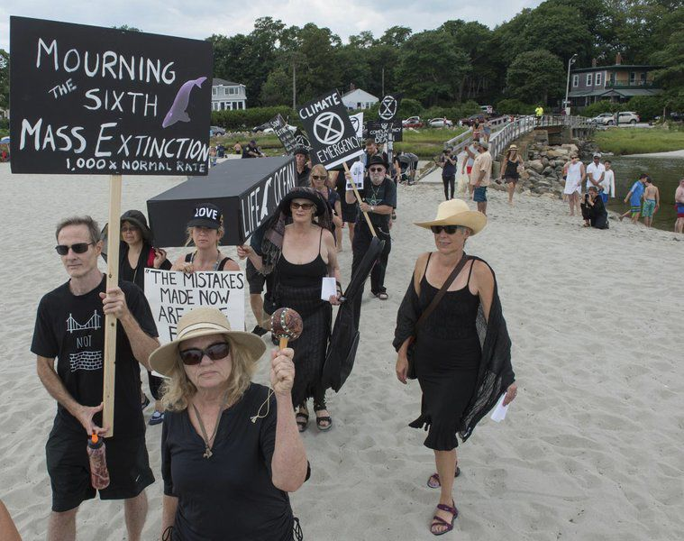 Good Harbor Beach protest