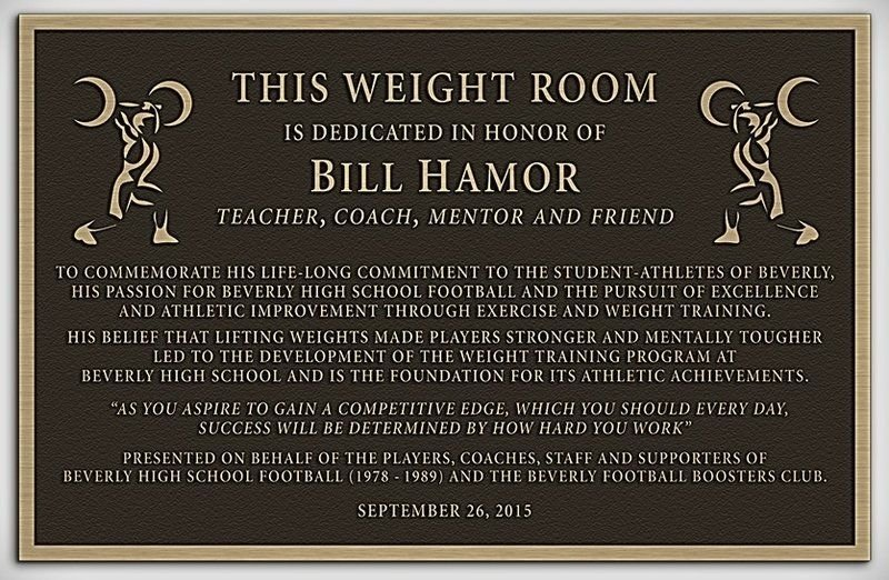 Beverly High weight room to be dedicated to legendary coach