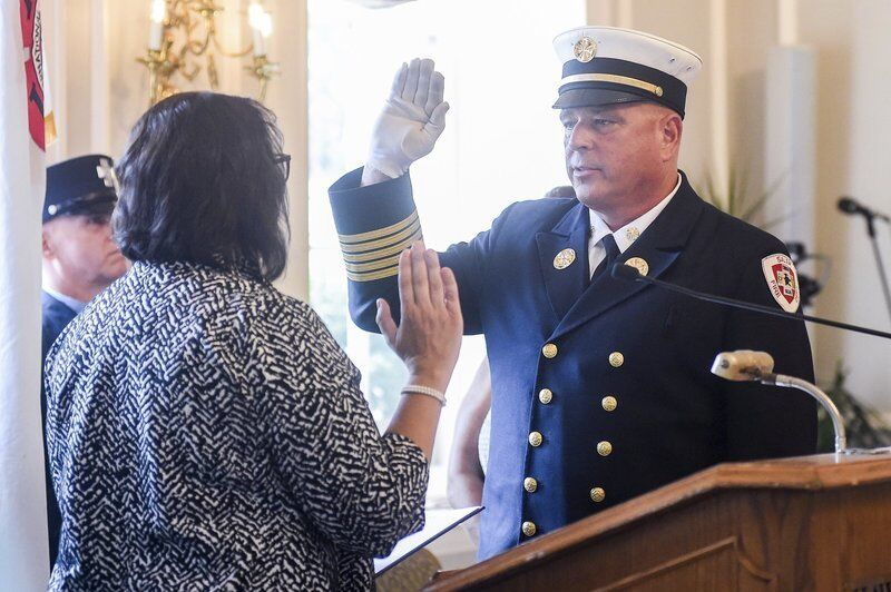 'Being a firefighter is the coolest job in the city' Dionne sworn in as Salem's new fire chief
