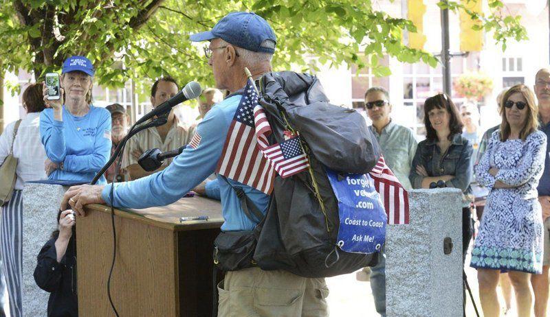 Veteran welcomed home after 3,000-mile walk