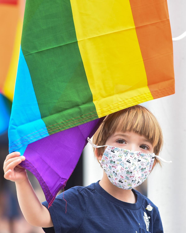 Pride Month flag raising in Salem -- photos for Salem News and Salem Magazine