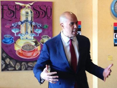Cory Booker speaks to Derry crowd about hope, unity