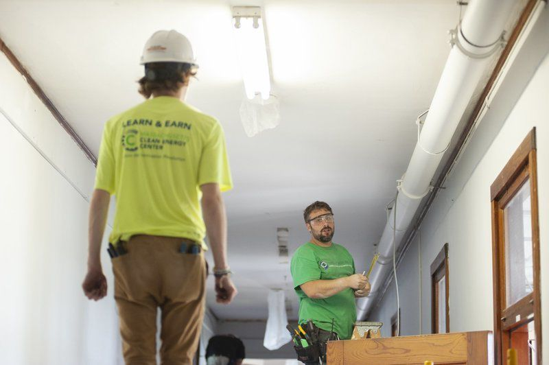 Essex Tech students build classrooms at their school