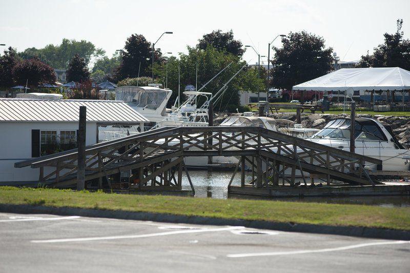 Neighbors, marina clashover free boat slips, temporary bridge