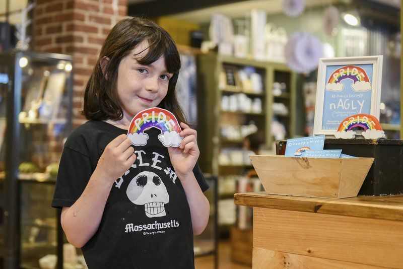 7-year-old's rainbow pins help support LGBTQ youth