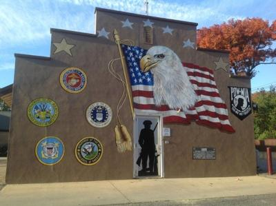 Middleton Legion Post unveils new patriotic mural for Veterans Day