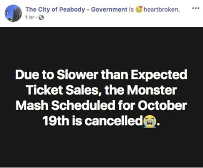 41a5f87df5fa Slow tickets sales kill Monster Mash | Local News | salemnews.com