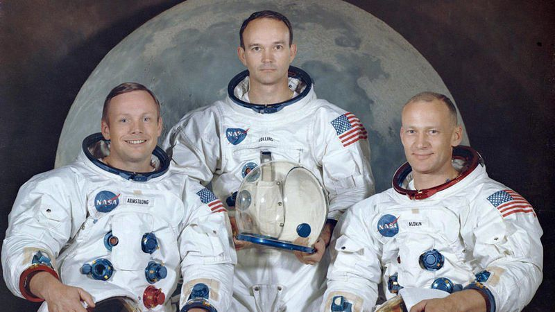 Collins 'perfectly happy' with his role in Apollo 11 mission