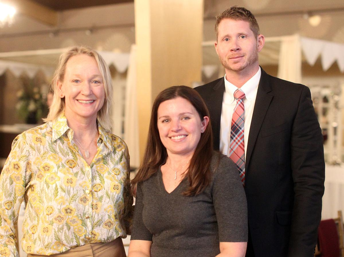 Gatherings montserrat president honored at beverly chamber dinner from left sarah prescott kelly defelice and matt gibbons at the fourth annual greater floridaeventfo Gallery