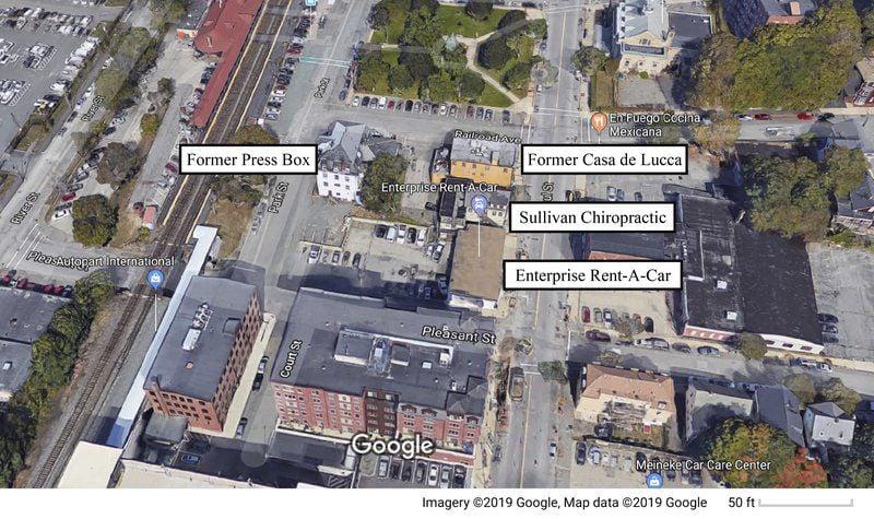 Wrecking ball in storefor historic district Developer plans apartments for Press Box, Casa de Lucca block