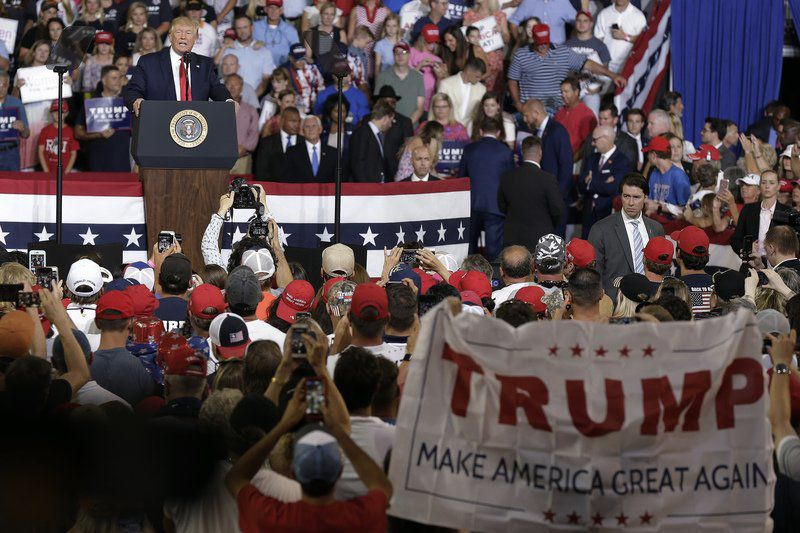 Trump says not happy with backers' 'send her back' chant
