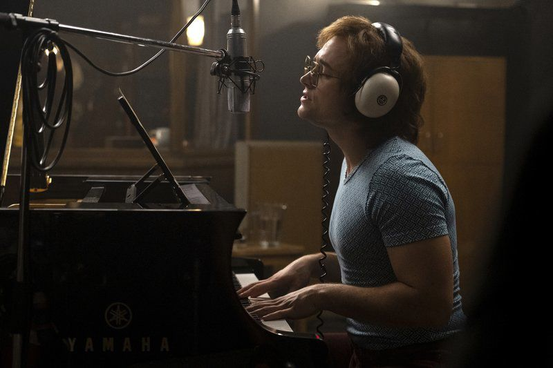 Movie review: Egerton glitters in glossy, conventional 'Rocketman'