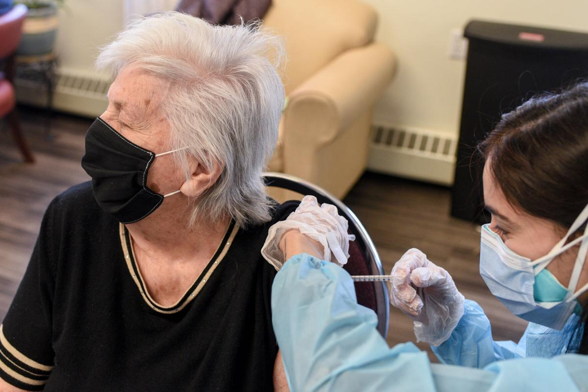 Vaccination clinic for seniors who live at Penelope 120 Senior Apartments