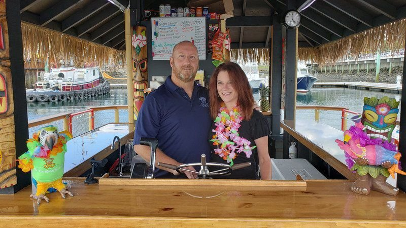 Salem Harbor now home to a floating tiki bar