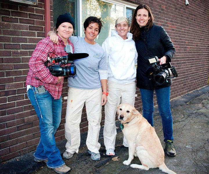 BLC Painting_Flipping Boston camera crew_mascot Toby
