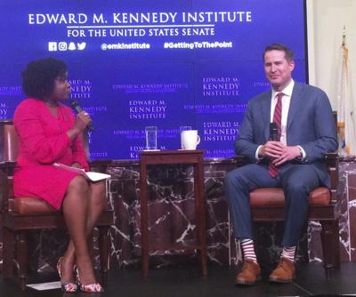 Moulton talks Trump, mental health, foreign policy