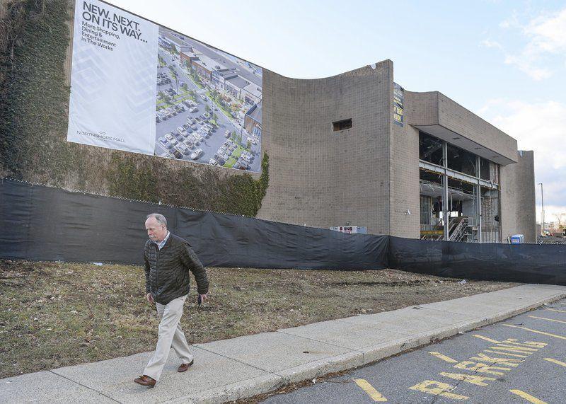 Demolition beginning at Sears