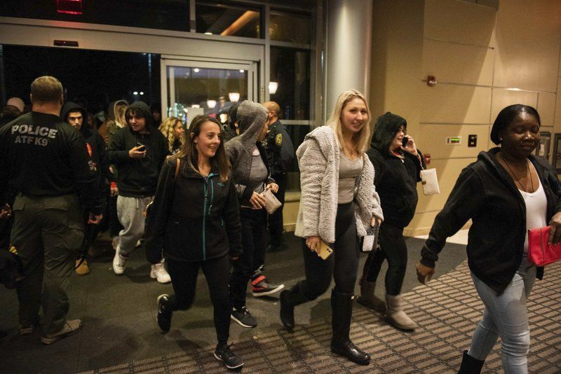 Young crowd seeks doorbuster deals at the mall