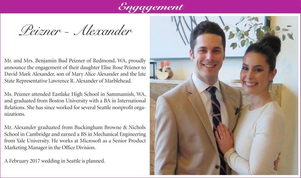 Peizner-Alexander Engagement