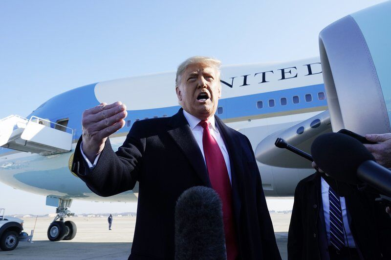 Trump takes no responsibility for riot as he heads to Texas