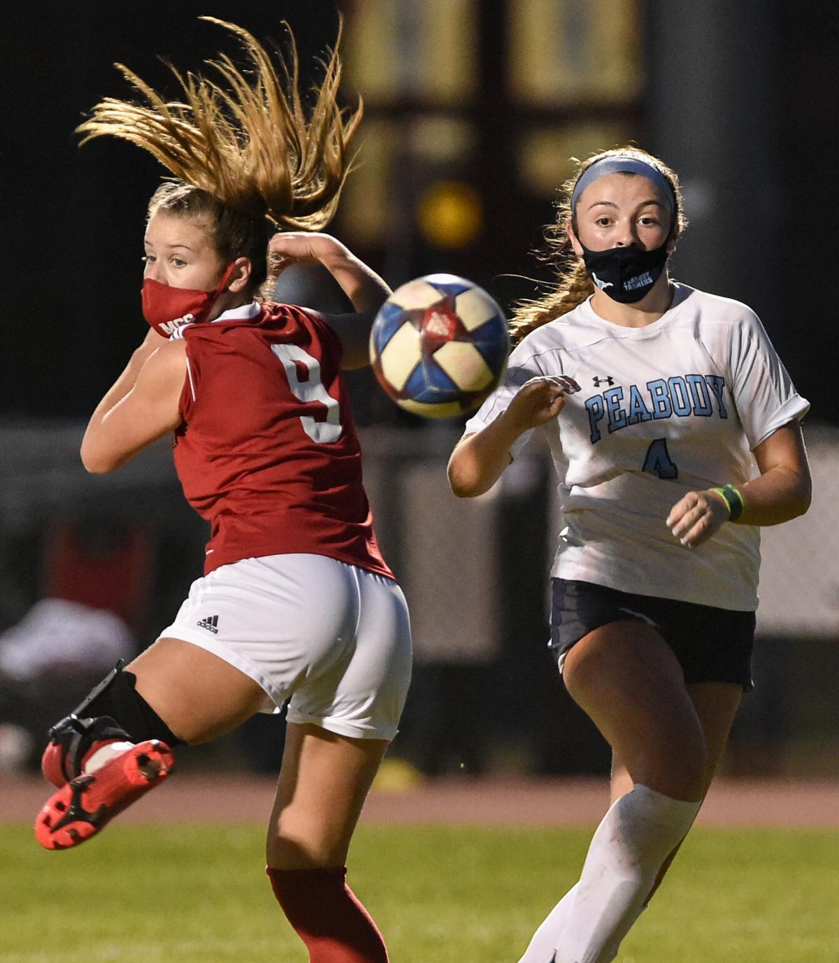 Peabody girls soccer at Masconomet varsity game