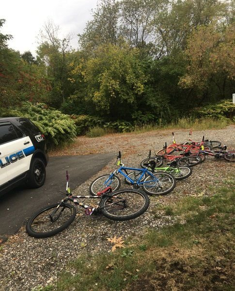 Peabody PD rounds up bikes from helmetless kids