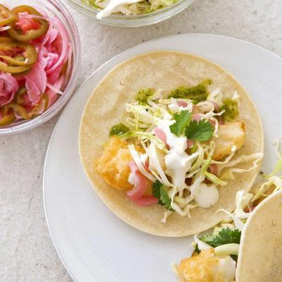 Serve fish tacos that are light, fresh and tasty
