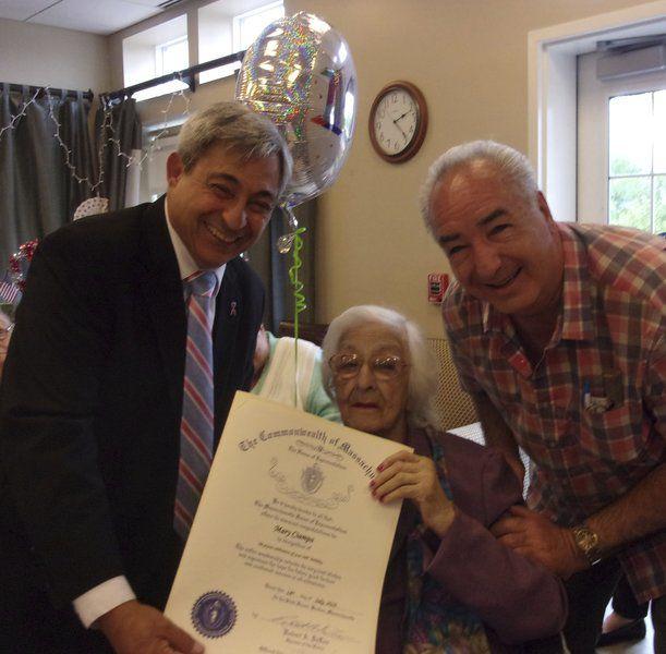 Hathorne Hill celebrates residents' 100th birthdays