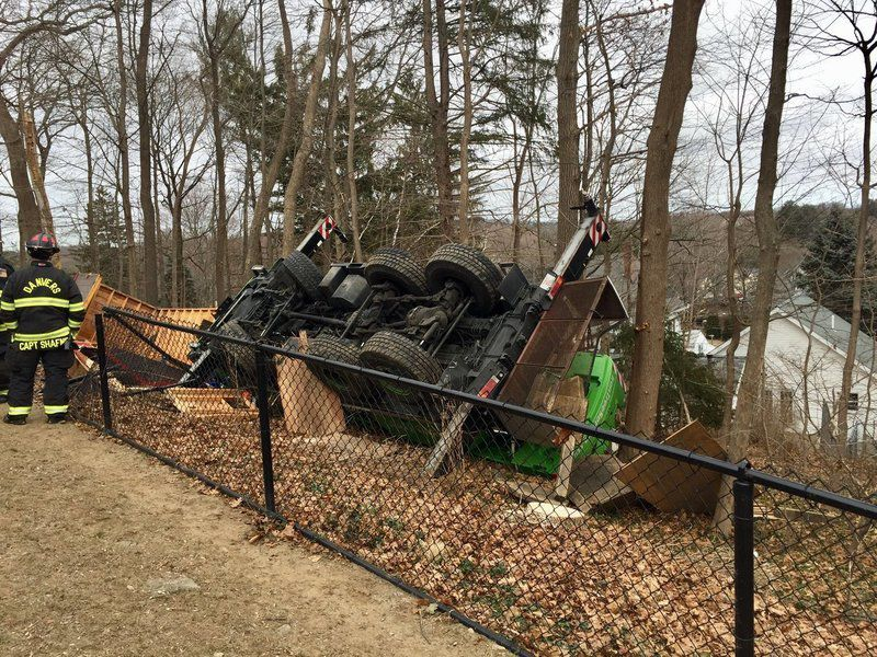 Tree truck flips in Danvers | Local News | salemnews com
