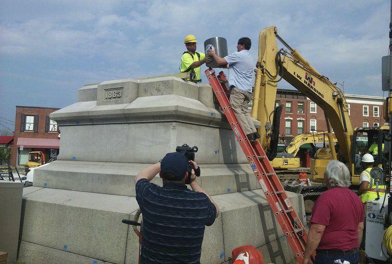 Work underway to move Civil War monument in Peabody