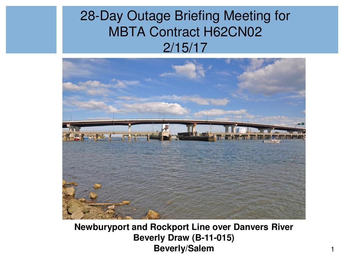 Download pdf latest presentation on beverly drawbridge work