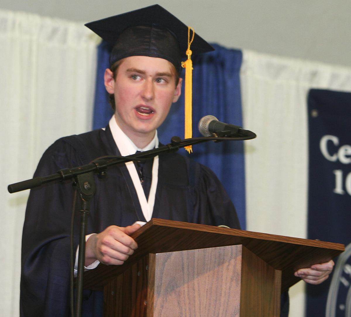 Danvers Valedictorian Richard Jay Powers Of North Reading Addresses The Graduating Class 2008 At St Johns Prep School In Sunday Morning During