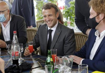 With tall Trump tale, Macron plays to young voters on Youtube