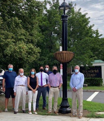 Topsfield installs first solar-powered street light