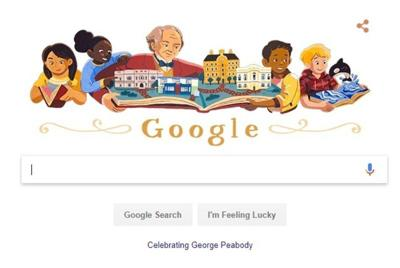 George Peabody featured in Friday's 'Google doodle'