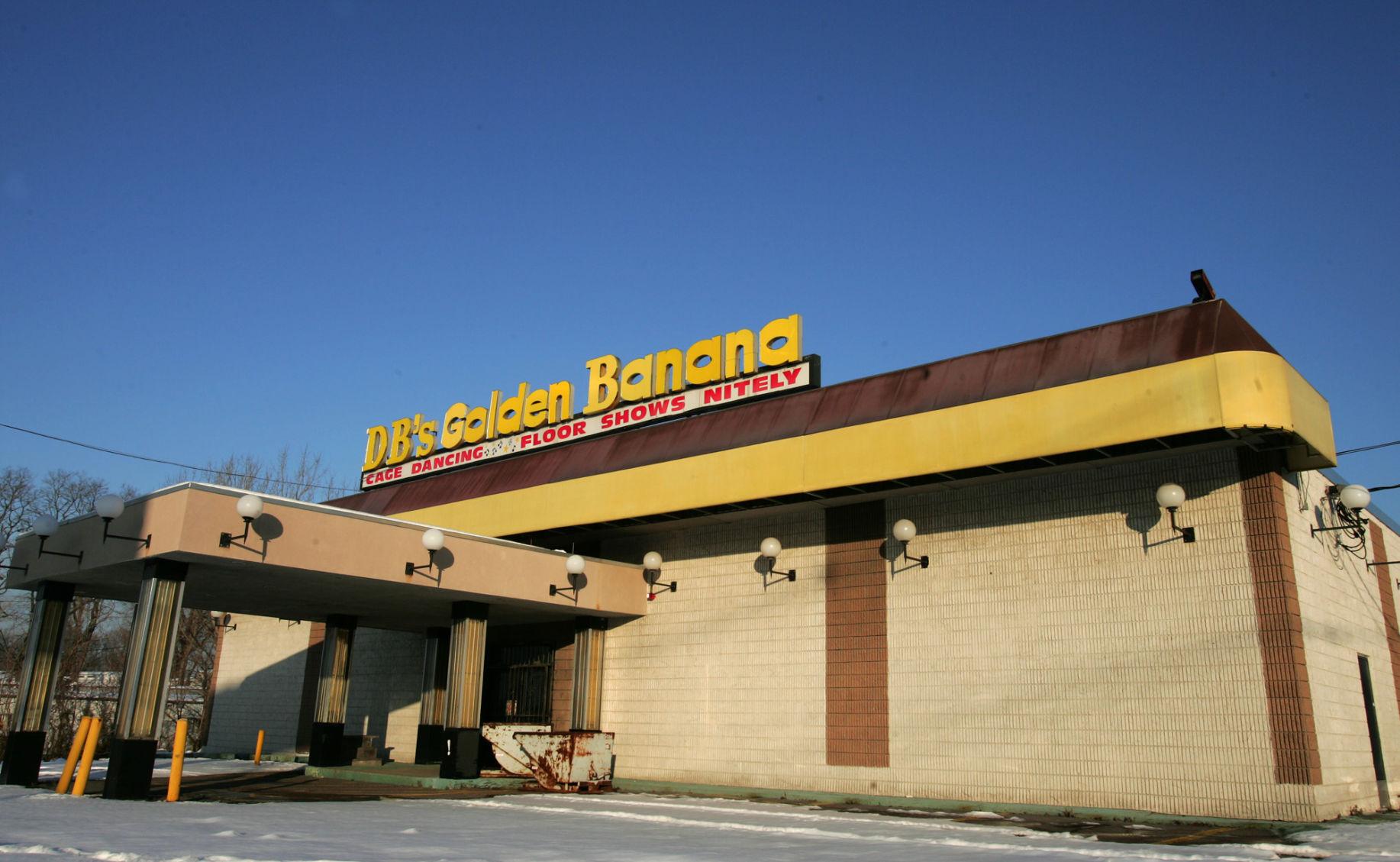 Golden banana strip club