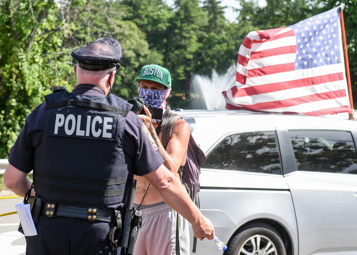 Anti racism/anti-Trump counterprotest in Peabody