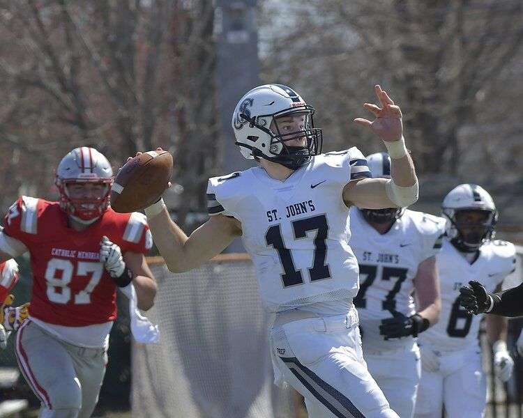 Knights control the trenches, run all over St. John's Prep