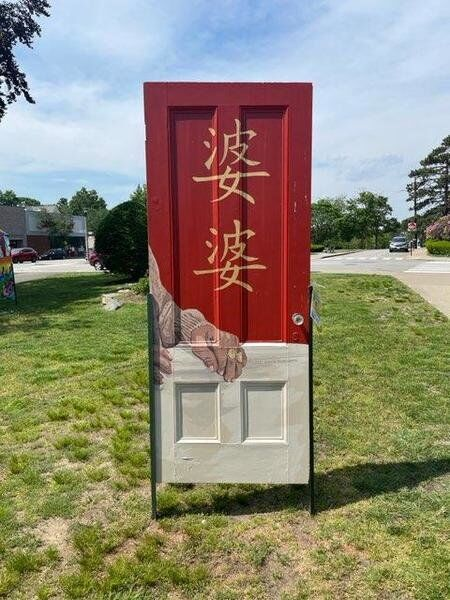 Beverly artist's painting of Asian grandmother vandalized in Newton