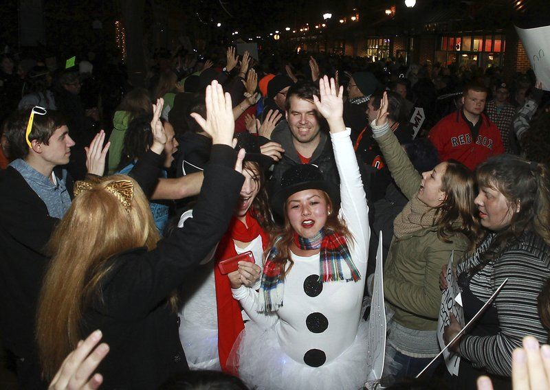 thousands of revelers celebrate halloween in salem
