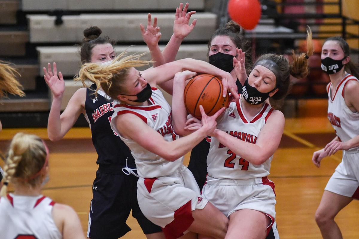 Marblehead at Masconomet girls varsity basketball game