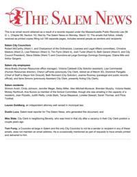 Council emails violated Open Meeting Law   Local News   salemnews.com