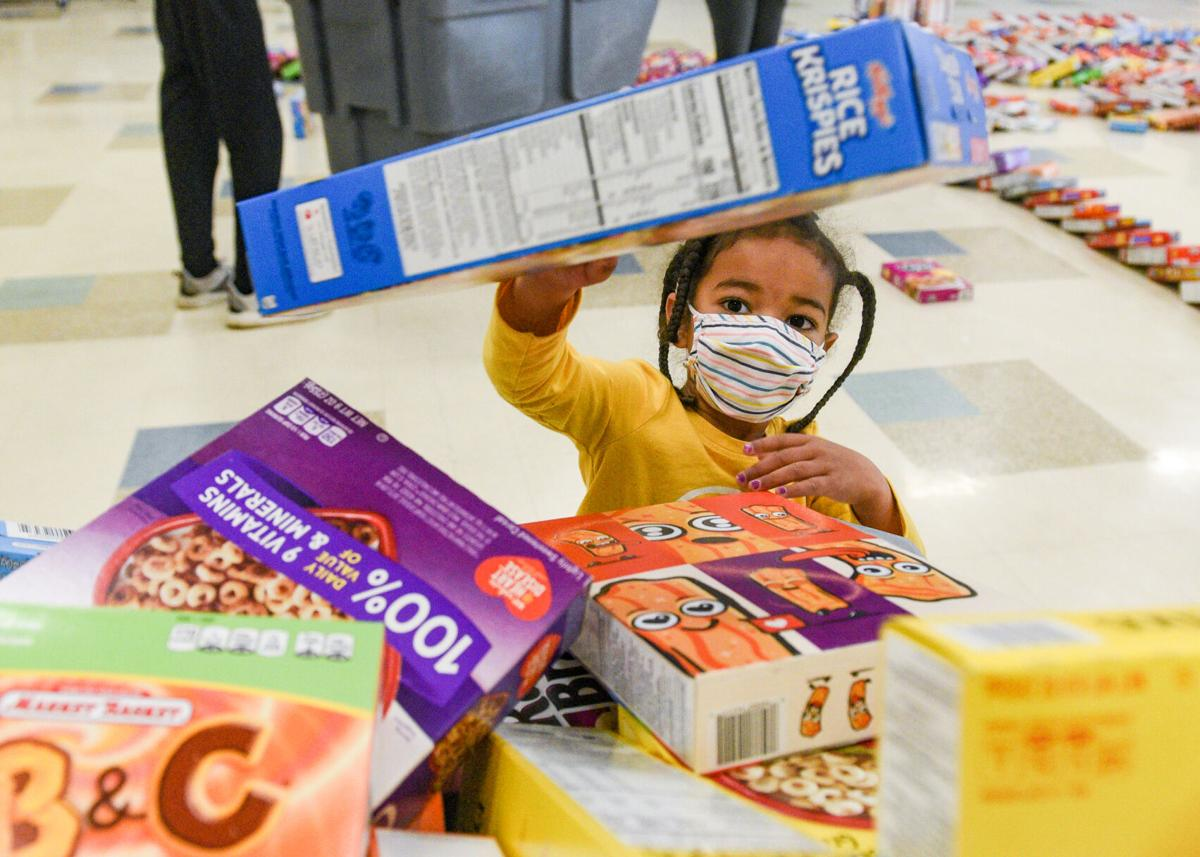 Cereal Box Domino Challenge at the Cove Elementary School