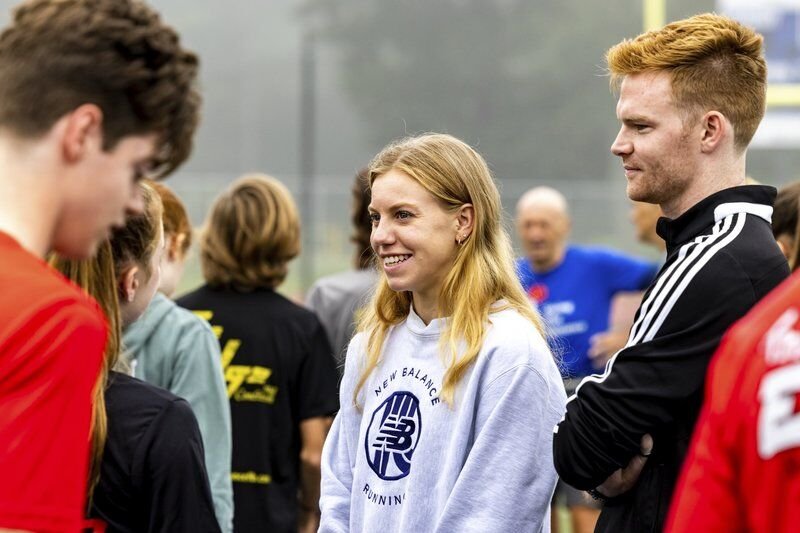 Olympian MacLeanencourages campers to love running every day
