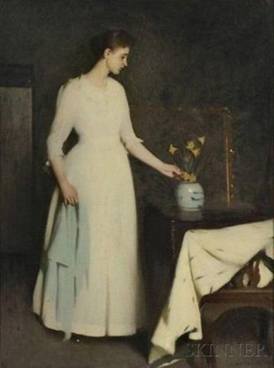 """Figure in White"" by Salem's Frank Weston Benton sells for $300K"